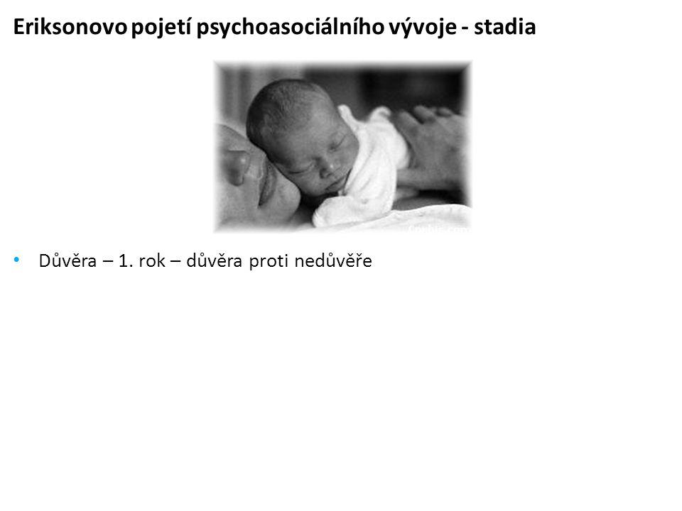 Eriksonovo pojetí psychoasociálního vývoje - stadia