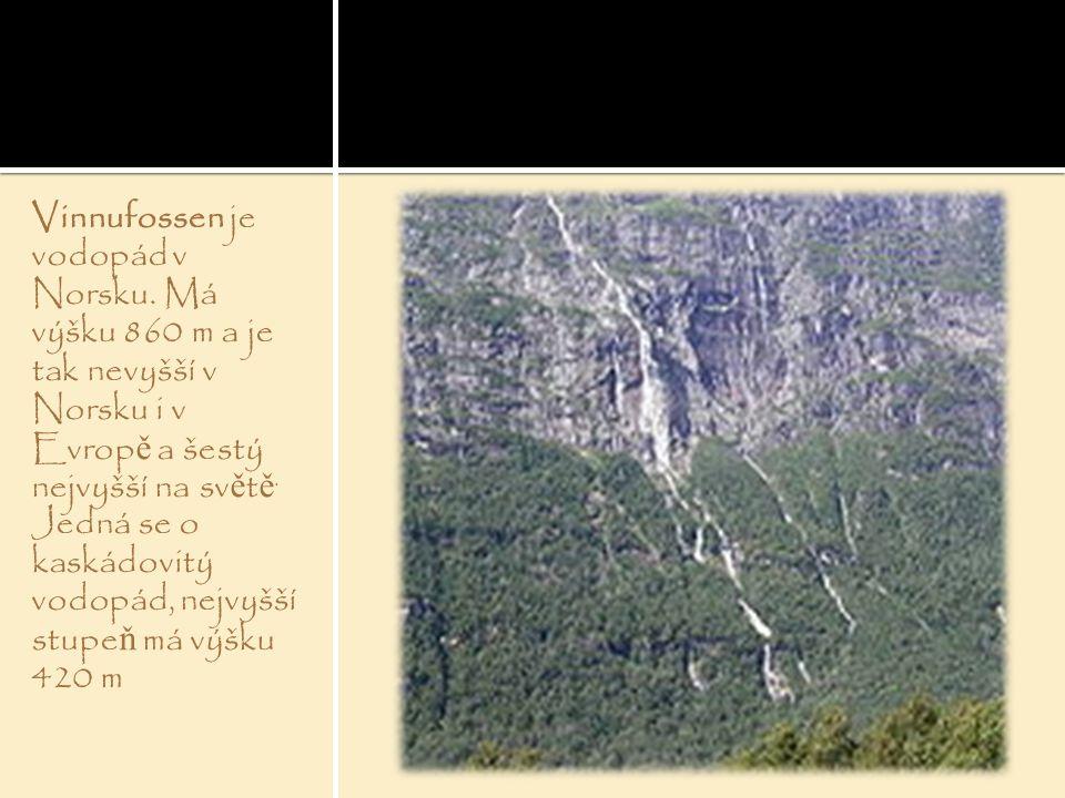 Vinnufossen je vodopád v Norsku
