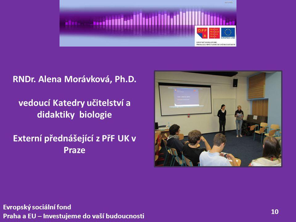 RNDr. Alena Morávková, Ph.D.