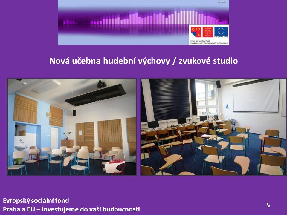 Nová učebna hudební výchovy / zvukové studio