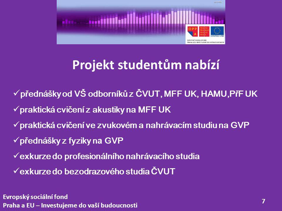 Projekt studentům nabízí