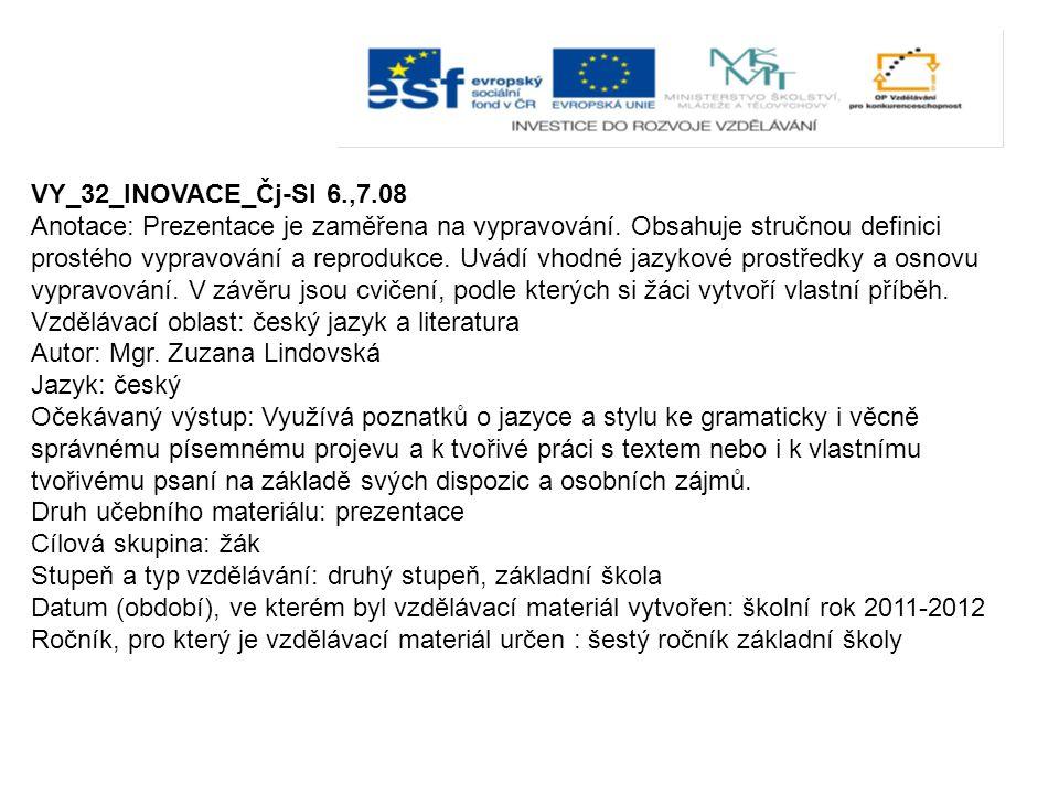 VY_32_INOVACE_Čj-Sl 6.,7.08