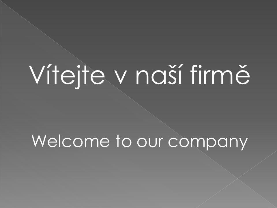 Vítejte v naší firmě Welcome to our company