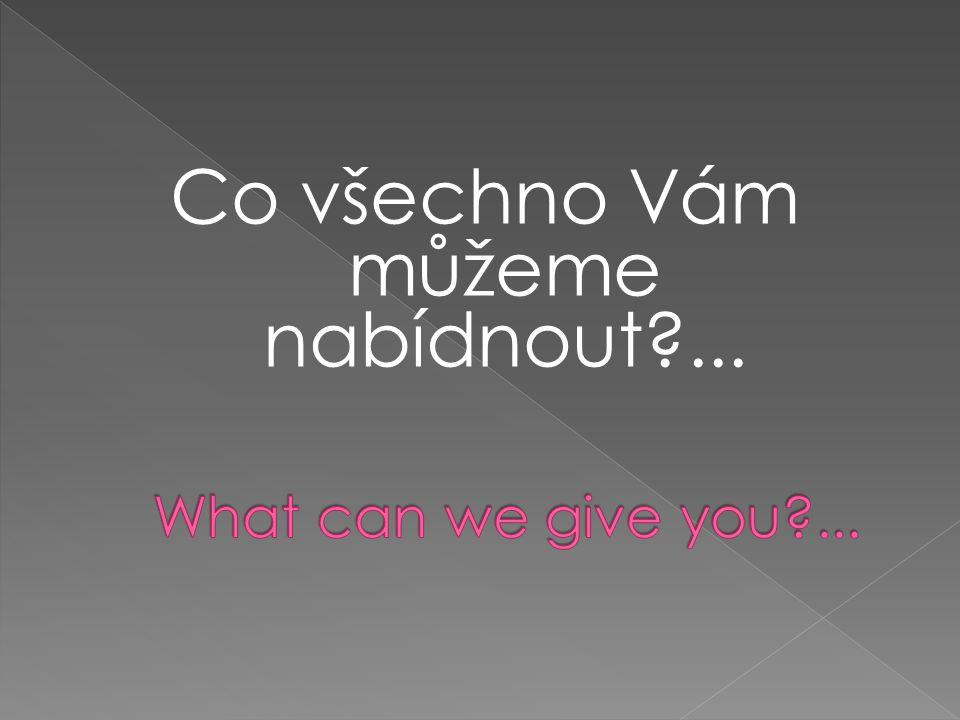 Co všechno Vám můžeme nabídnout ...