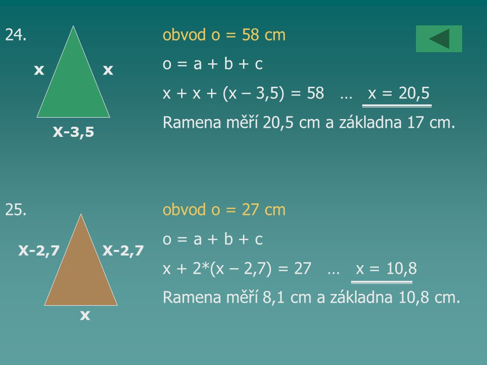 Ramena měří 20,5 cm a základna 17 cm.