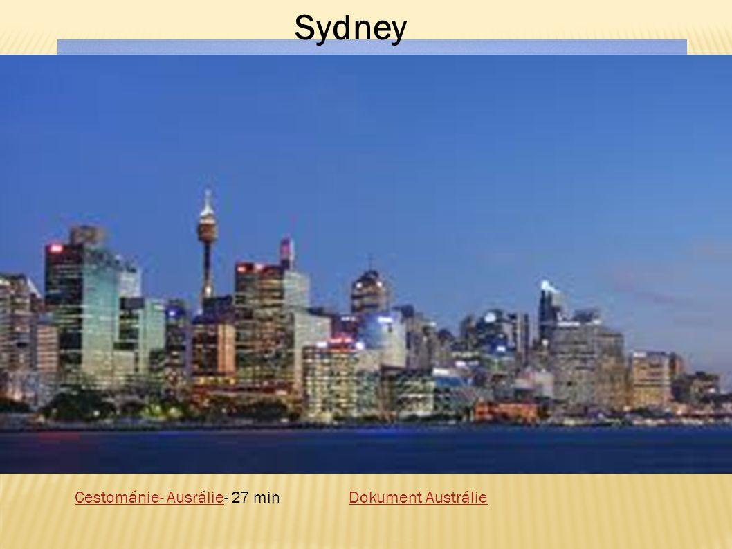 Sydney Cestománie- Ausrálie- 27 min Dokument Austrálie