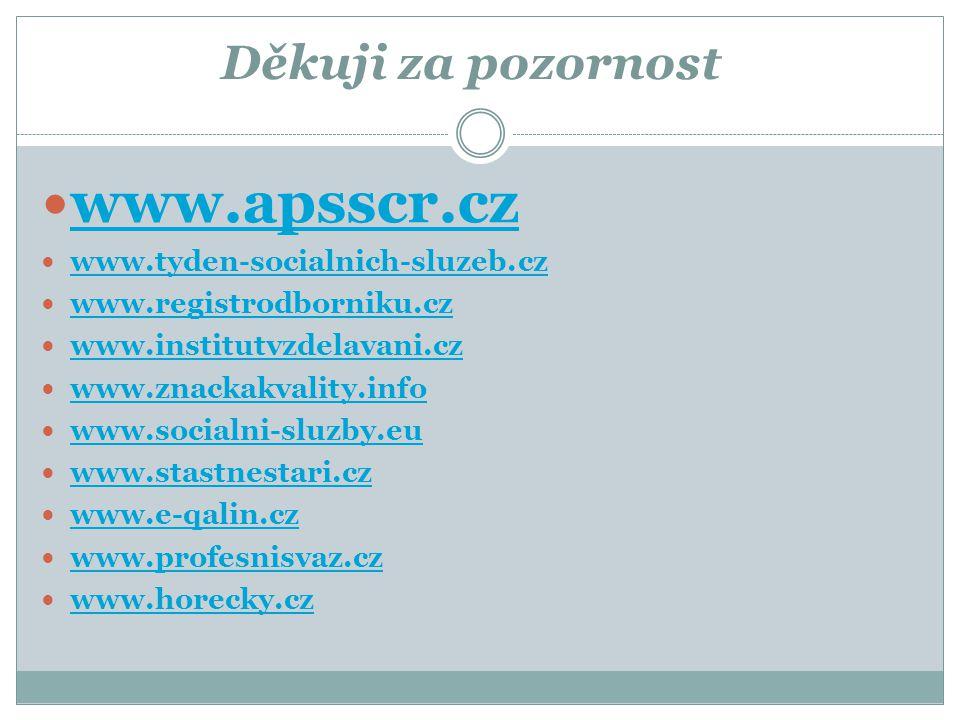 www.apsscr.cz Děkuji za pozornost www.tyden-socialnich-sluzeb.cz