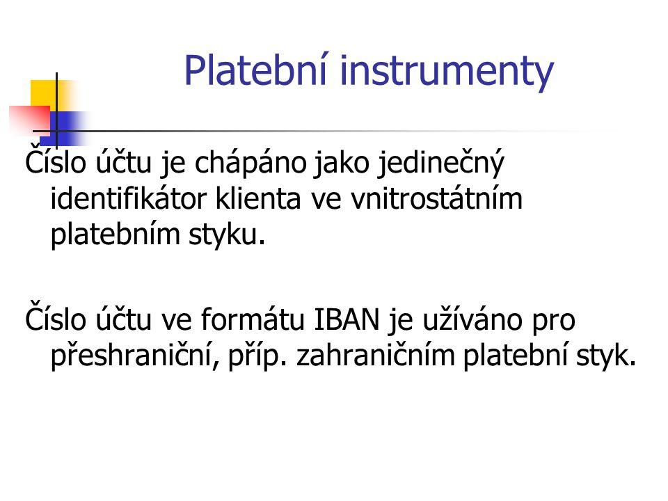 Platební instrumenty