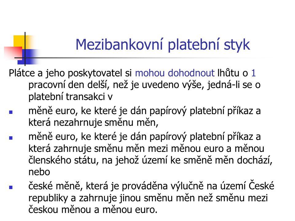 Mezibankovní platební styk