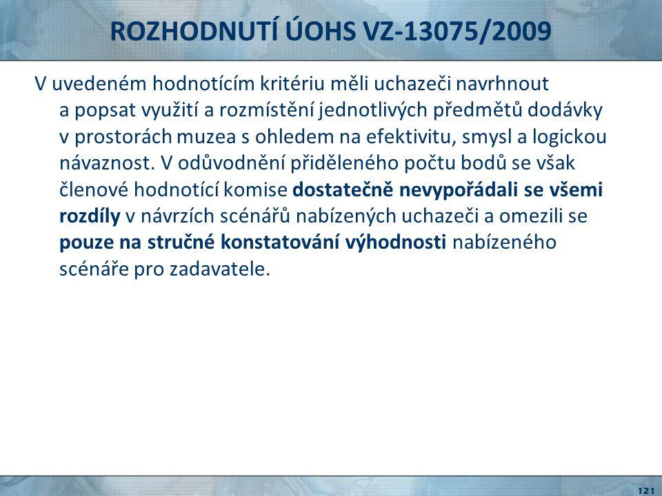ROZHODNUTÍ ÚOHS VZ-13075/2009