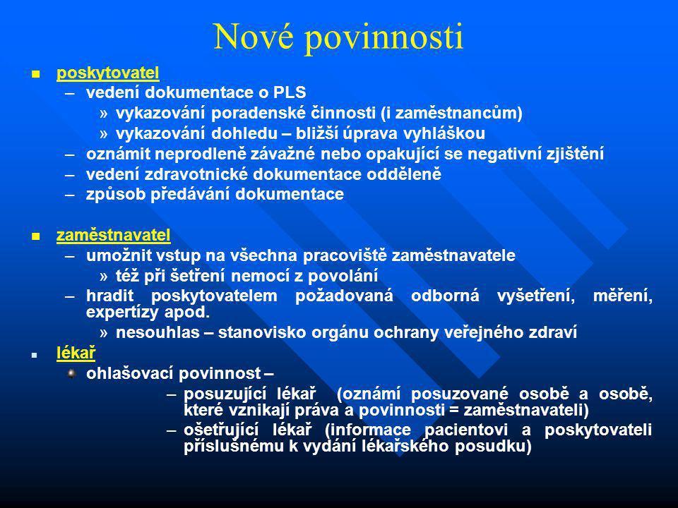 Nové povinnosti poskytovatel vedení dokumentace o PLS