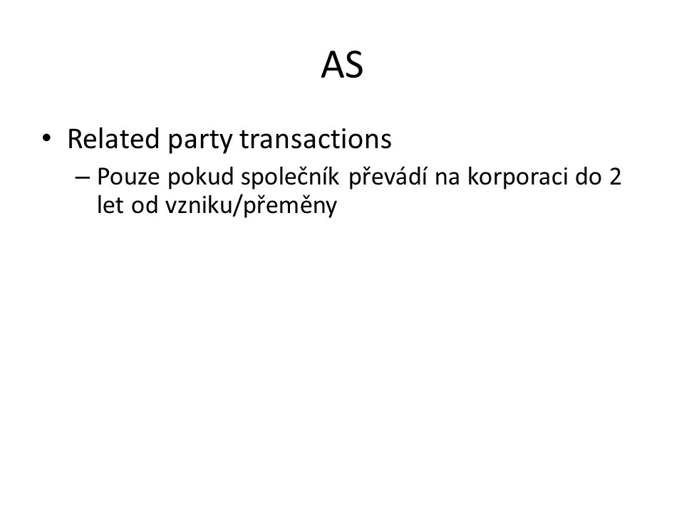 AS Related party transactions
