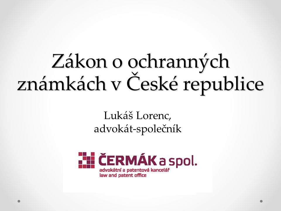 Zákon o ochranných známkách v České republice