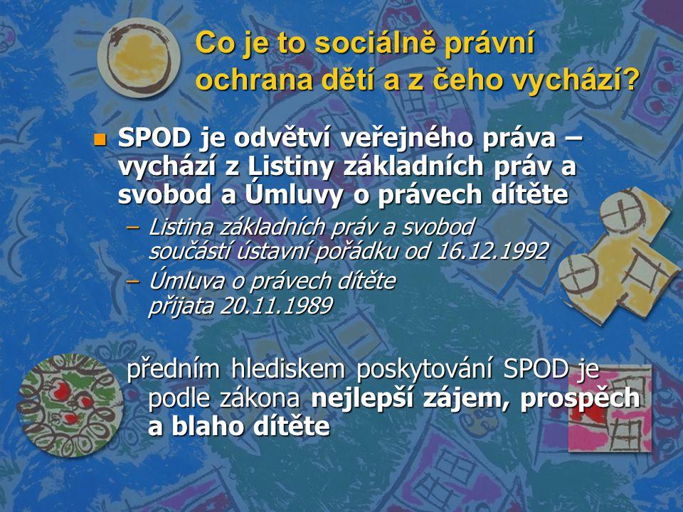 Co je to sociálně právní ochrana dětí a z čeho vychází