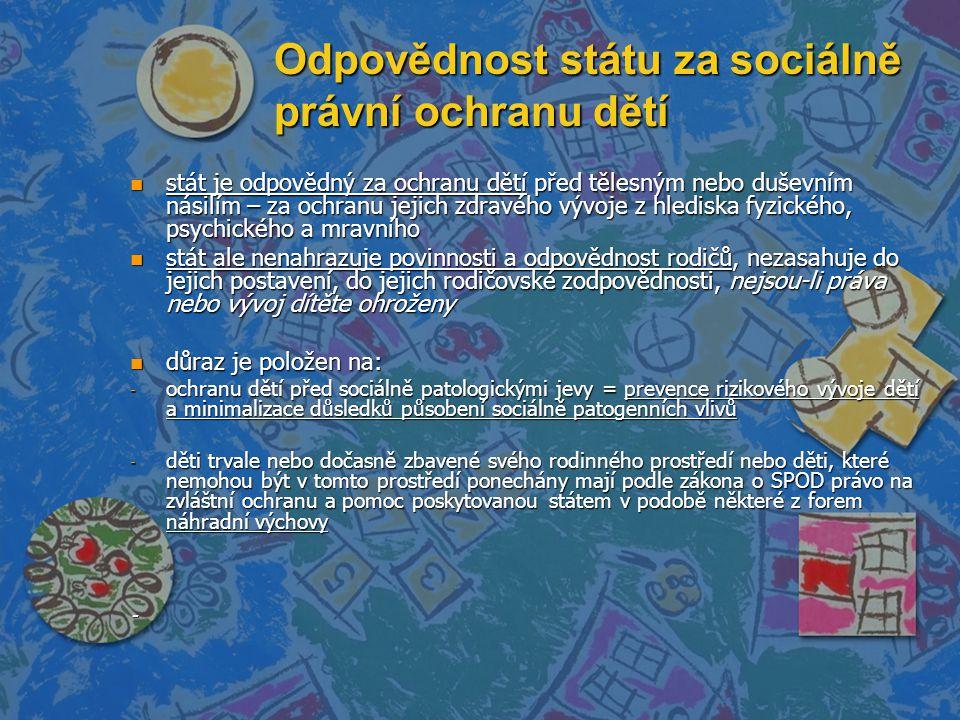 Odpovědnost státu za sociálně právní ochranu dětí