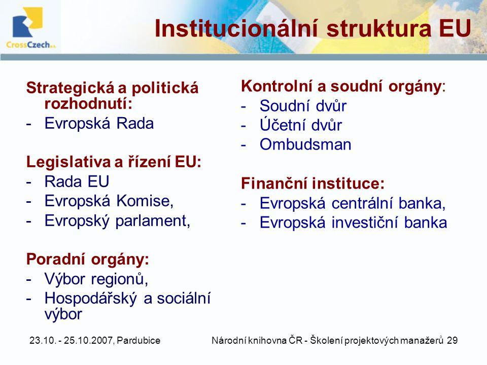 Institucionální struktura EU
