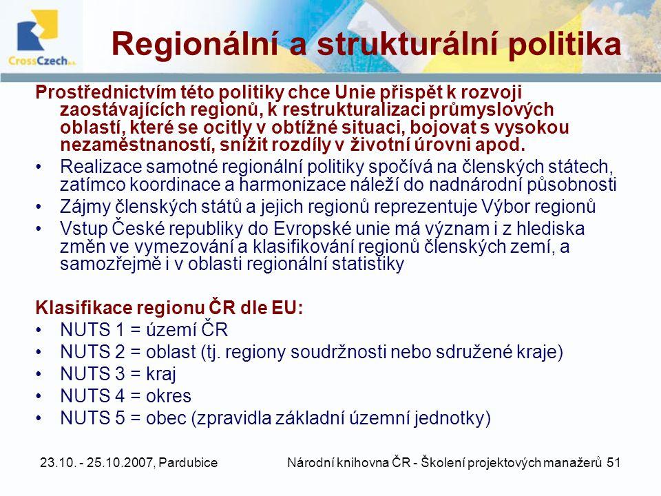 Regionální a strukturální politika