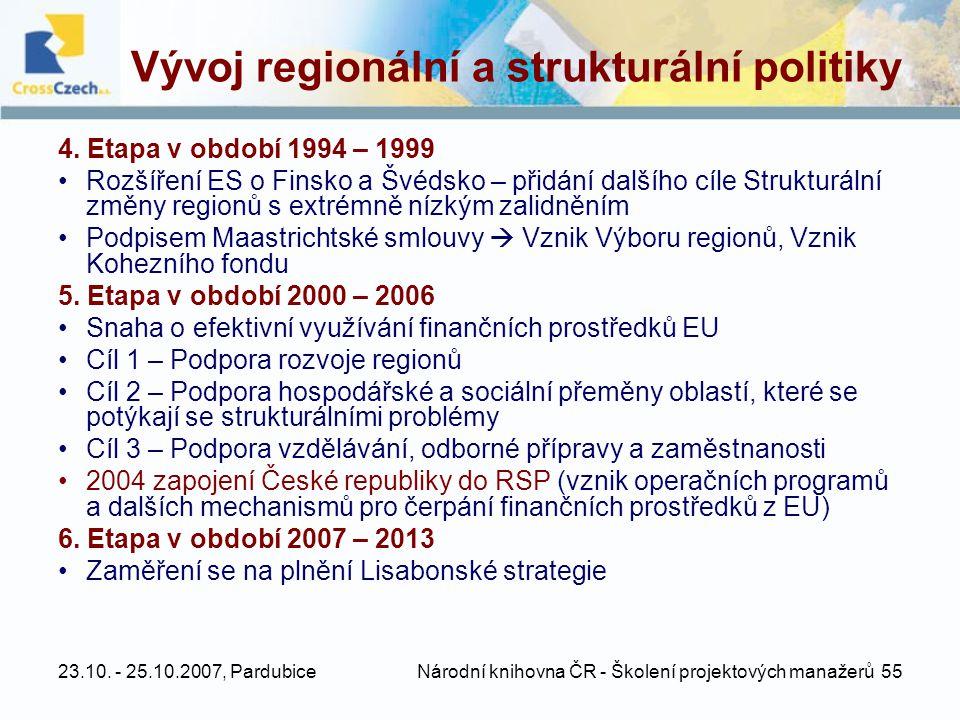 Vývoj regionální a strukturální politiky