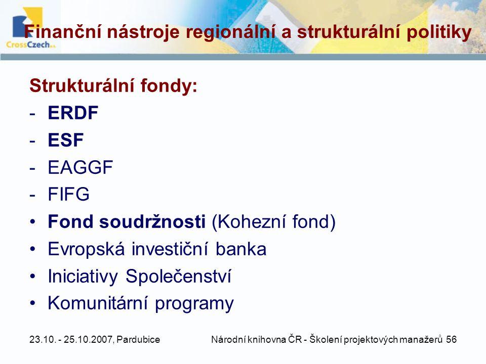 Finanční nástroje regionální a strukturální politiky