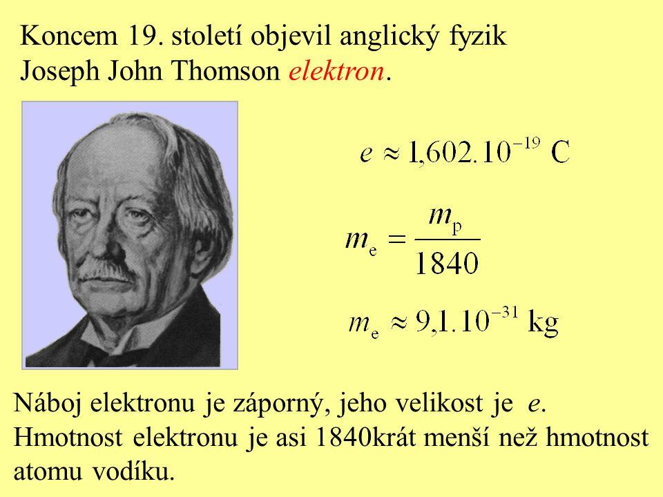 Koncem 19. století objevil anglický fyzik