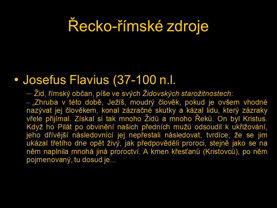 Řecko-římské zdroje Josefus Flavius (37-100 n.l.