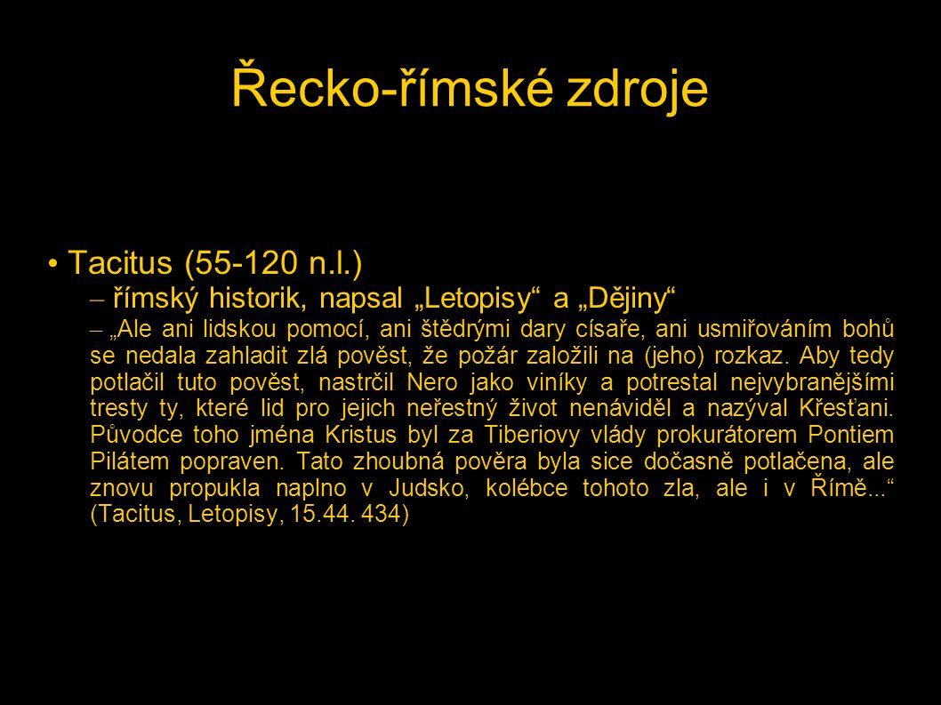 Řecko-římské zdroje Tacitus (55-120 n.l.)