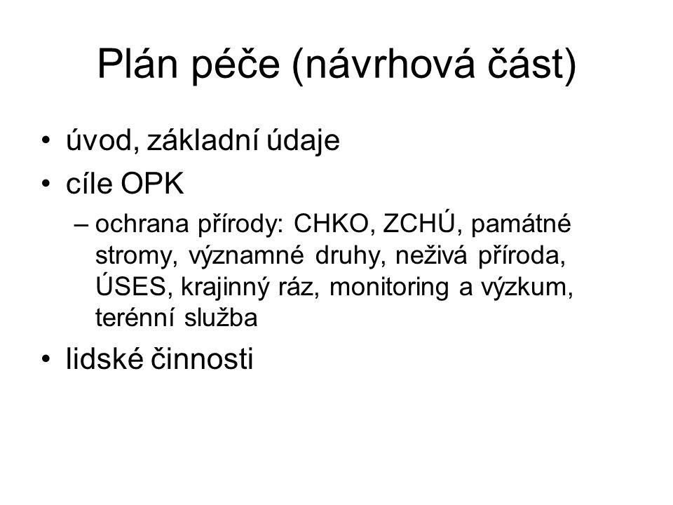 Plán péče (návrhová část)