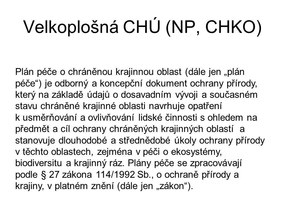 Velkoplošná CHÚ (NP, CHKO)