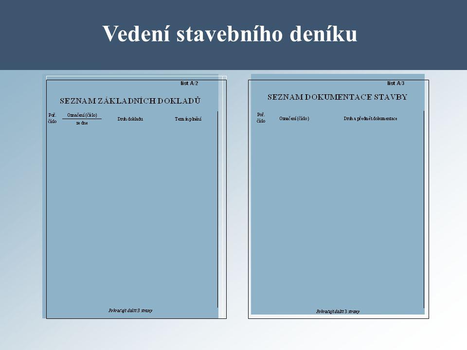 Vedení stavebního deníku