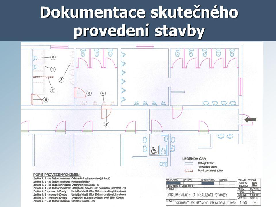 Dokumentace skutečného provedení stavby