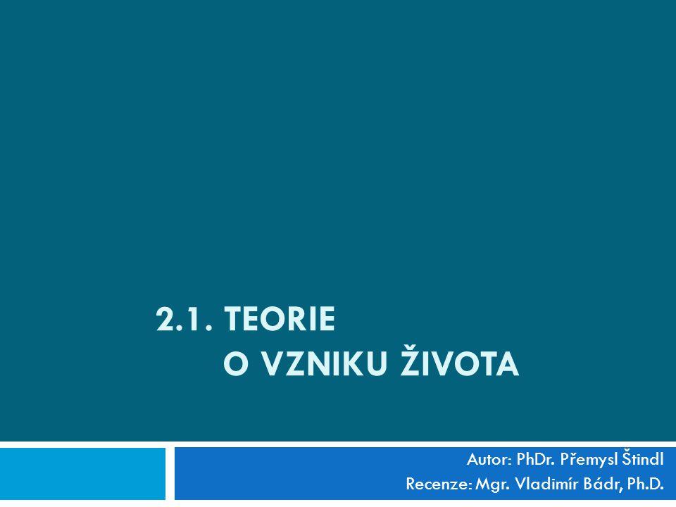 Autor: PhDr. Přemysl Štindl Recenze: Mgr. Vladimír Bádr, Ph.D.