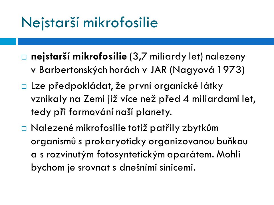 Nejstarší mikrofosilie