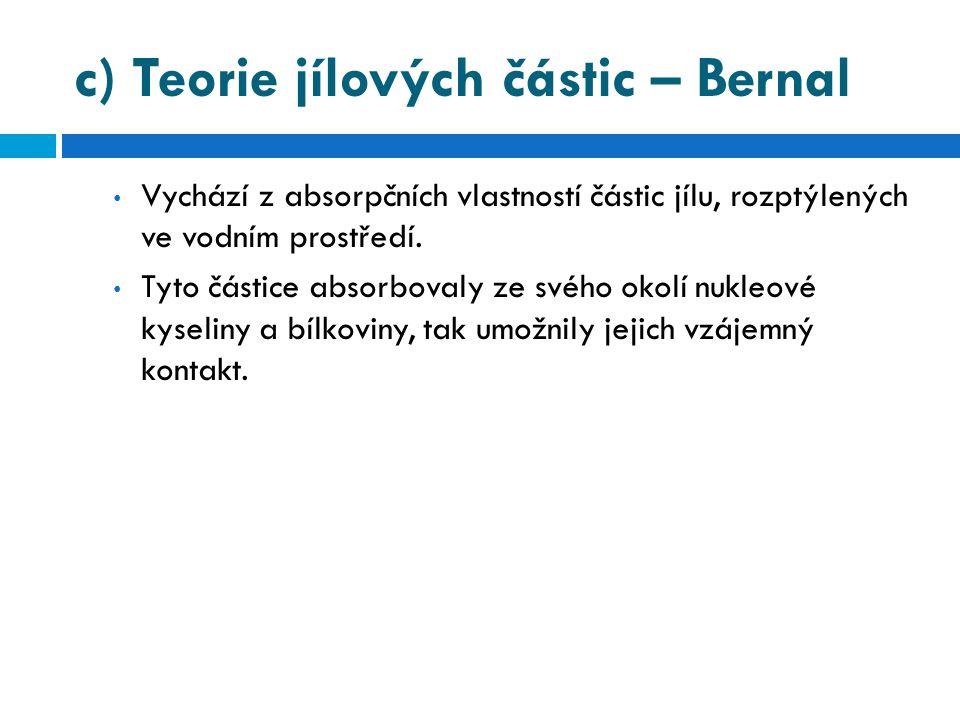 c) Teorie jílových částic – Bernal