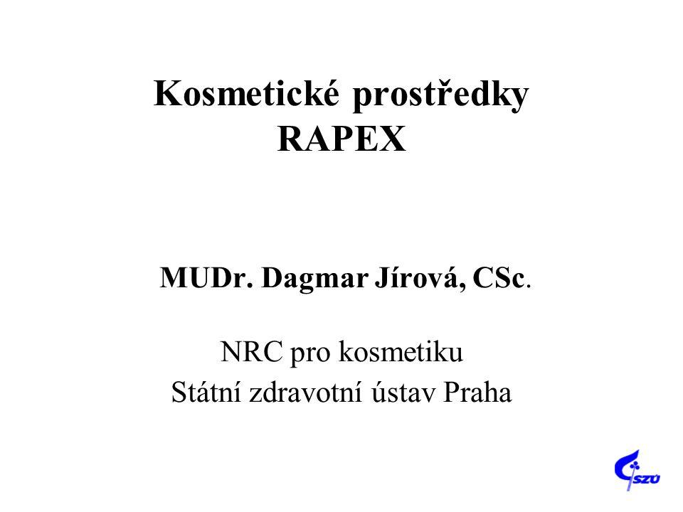 Kosmetické prostředky RAPEX MUDr. Dagmar Jírová, CSc