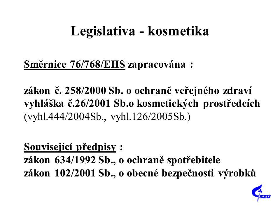 Legislativa - kosmetika