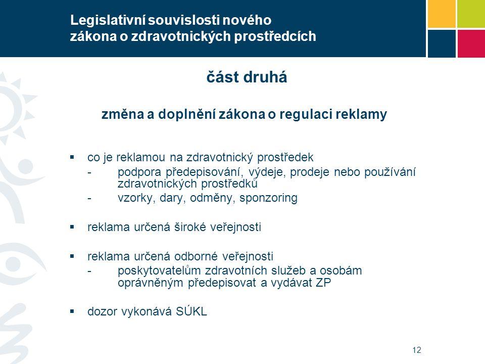změna a doplnění zákona o regulaci reklamy