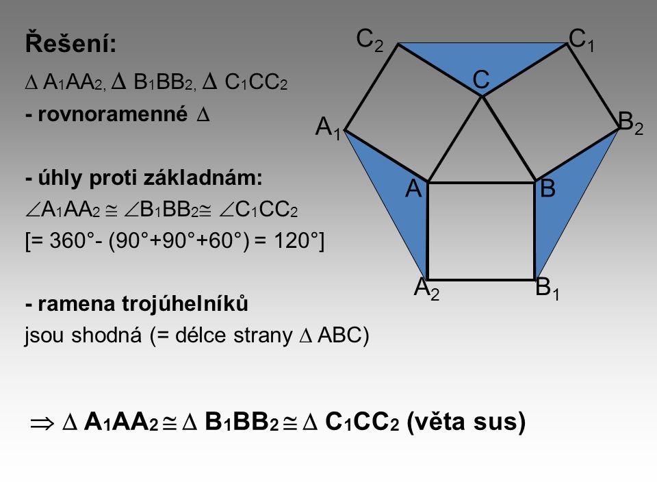   A1AA2   B1BB2   C1CC2 (věta sus)
