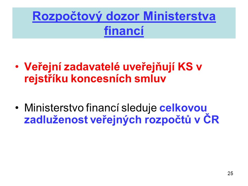 Rozpočtový dozor Ministerstva financí