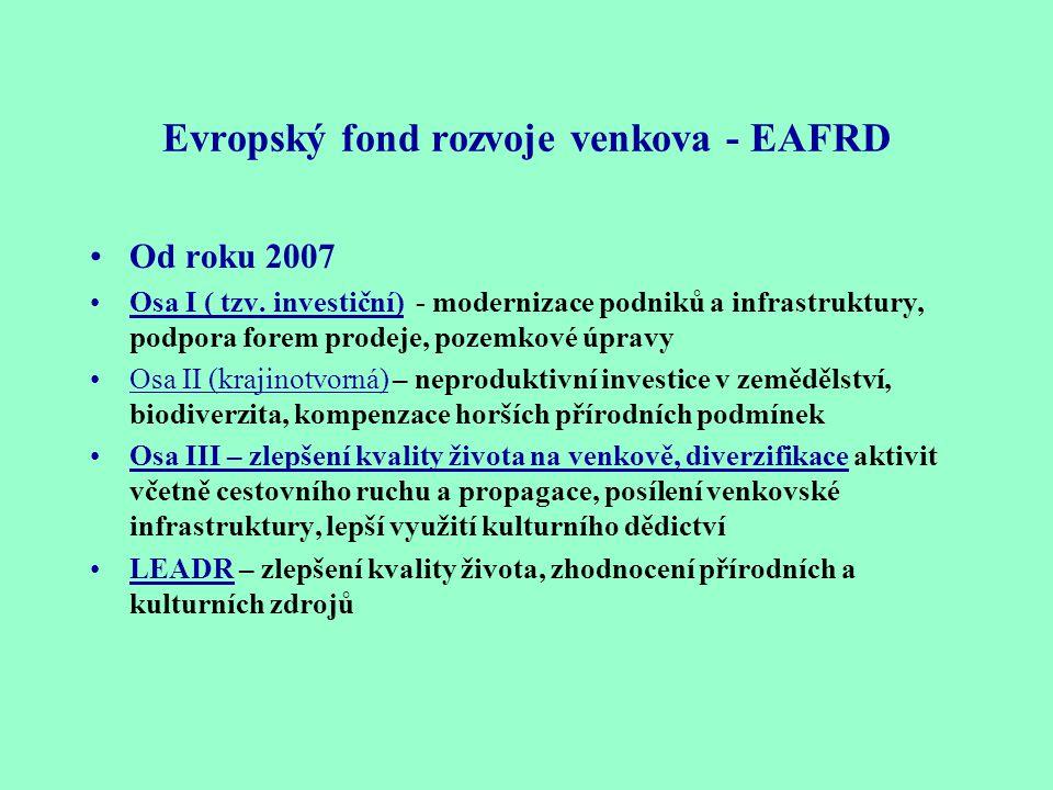 Evropský fond rozvoje venkova - EAFRD