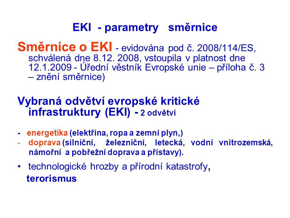 EKI - parametry směrnice