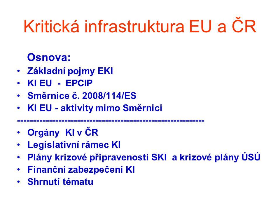 Kritická infrastruktura EU a ČR