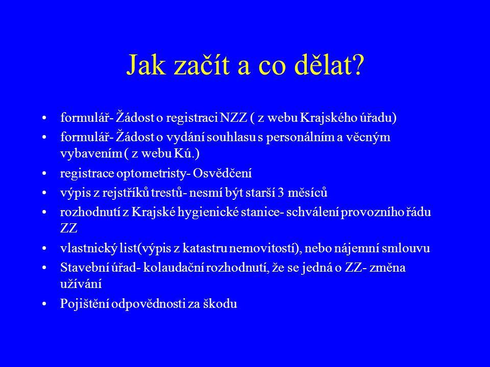Jak začít a co dělat formulář- Žádost o registraci NZZ ( z webu Krajského úřadu)
