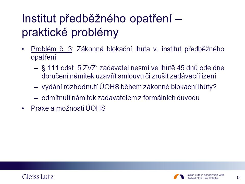 Institut předběžného opatření – praktické problémy