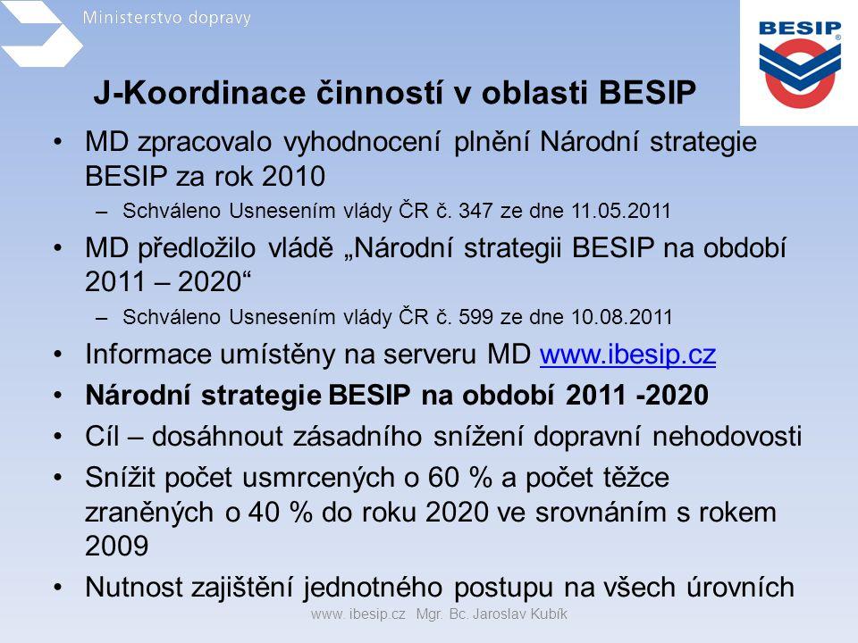 J-Koordinace činností v oblasti BESIP