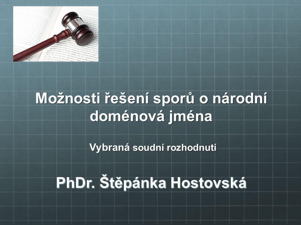 PhDr. Štěpánka Hostovská