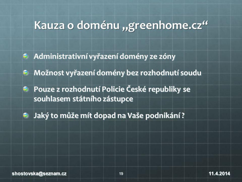 """Kauza o doménu """"greenhome.cz"""