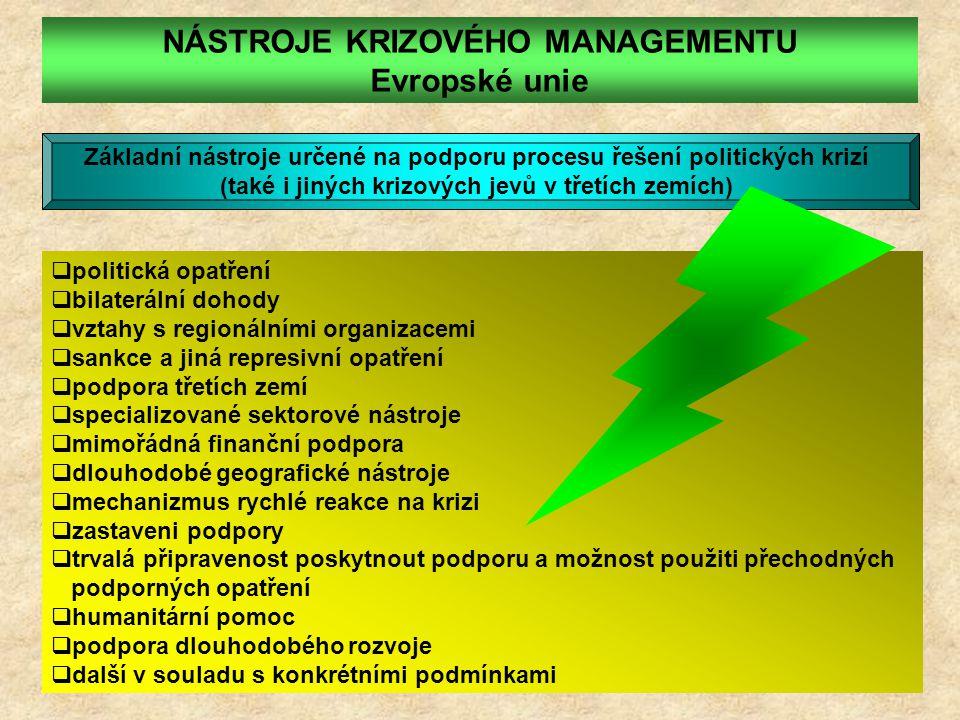 NÁSTROJE KRIZOVÉHO MANAGEMENTU Evropské unie