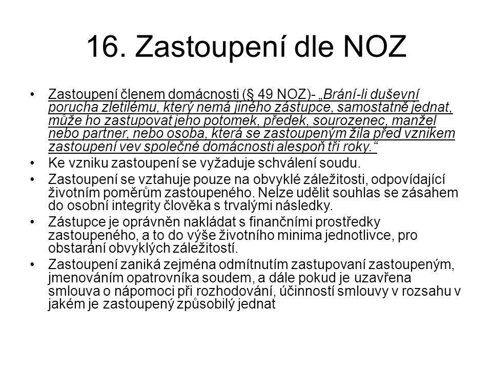 16. Zastoupení dle NOZ