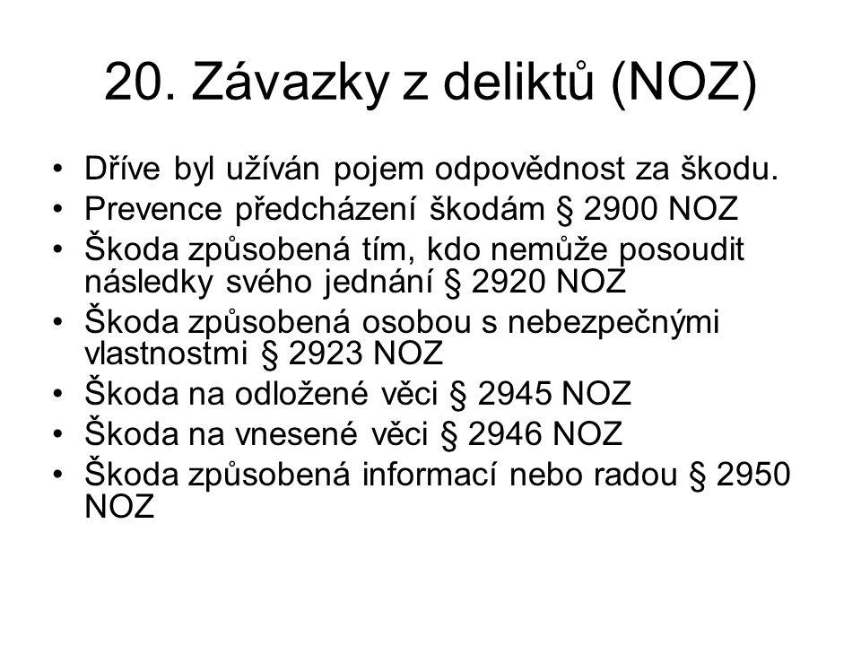 20. Závazky z deliktů (NOZ)