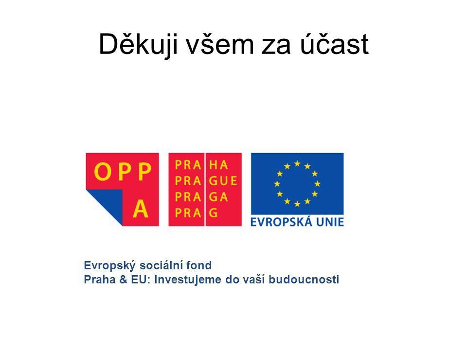 Děkuji všem za účast Evropský sociální fond